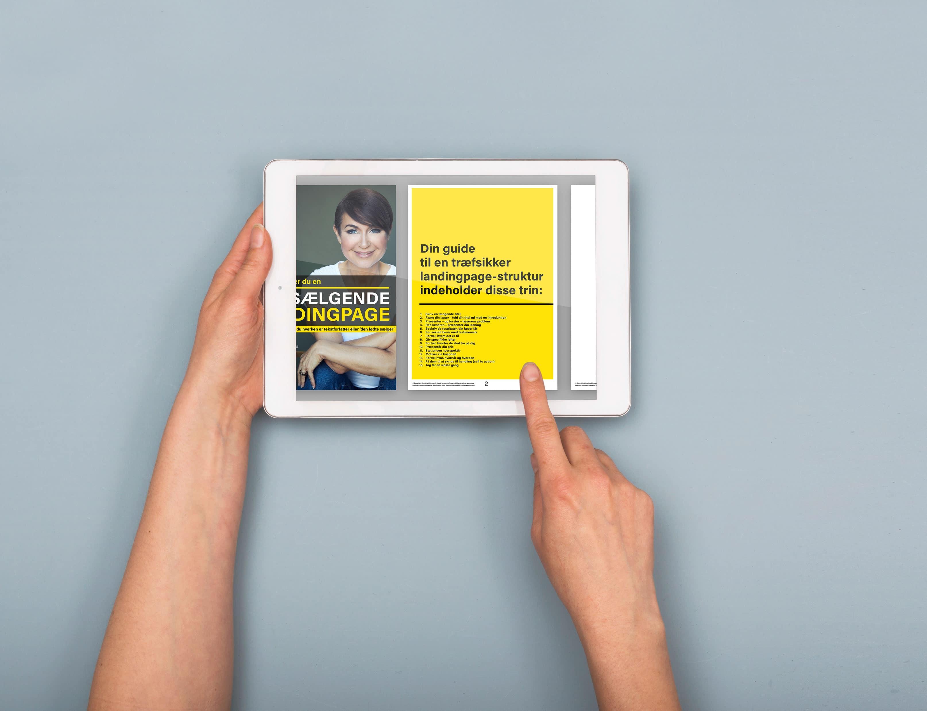 Topsælgende Landingpage på iPad
